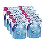Facial Tissue Kleenex - Kleenex Wet Wipes Gentle Clean For Hands And Face, 8 resealable pouches of 25 individually wrapped wipes (200 total wipes)