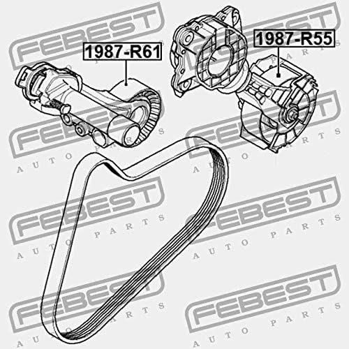 TENSION PULLEY Febest 1987-R61