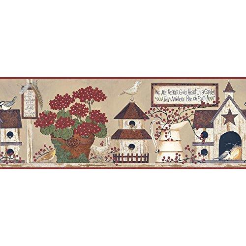 York Wallcoverings YC3388BD Welcome Home Inspirational Garden Border Country Garden Wallpaper Border