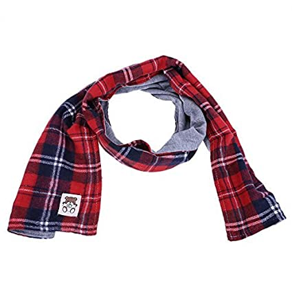 Domybest Fall Winter Baby Scarves Boys Girls Super Soft Parent-Child Plaid Scarf Neckerchief 165753.03