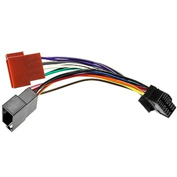 SONY DIN ISO Auto Radio Adapter Kabel Stecker 16 Pin: Amazon.de ...