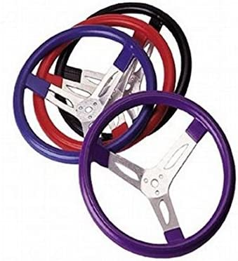Cushion Grip Steering Wheel 2.75 Inch Dish Purple 3-Spoke 15 Dia