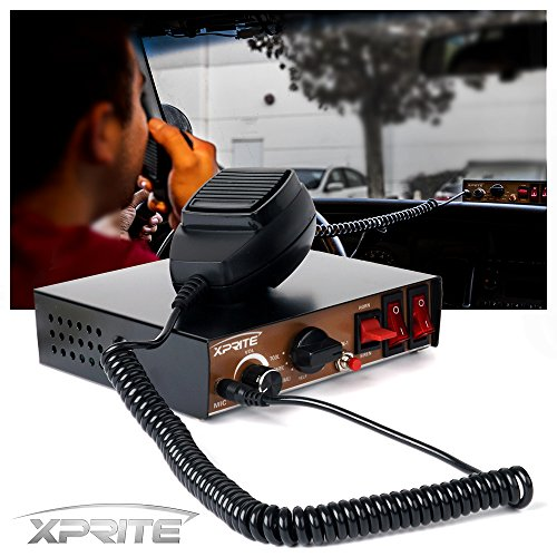 (Xprite 200 Watt 8 Tones Emergency Warning Siren PA System Kit w/Handheld Microphone & Light Control Switches (Speaker Not Included))