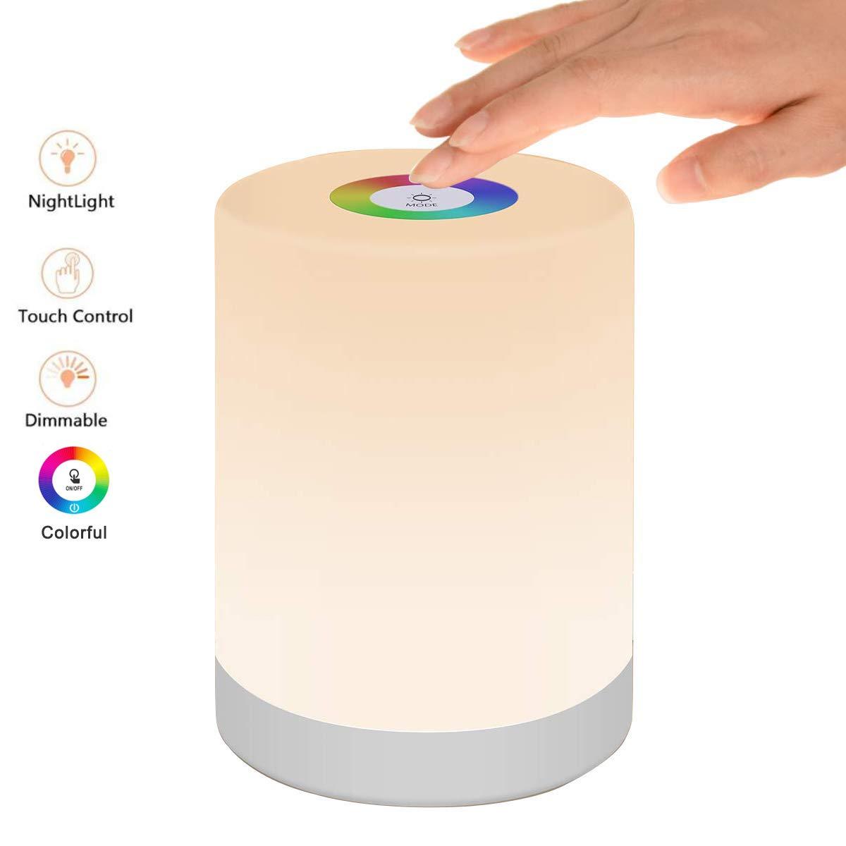 Lámparas de Mesa Inteligente Recargable, LED 6 Colores