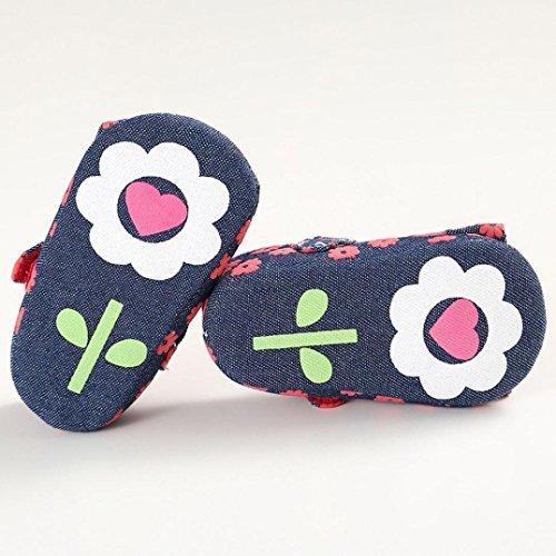 Ouneed® Krabbelschuhe , Christmas Baby Kleinkind Bowknot Blumenweiche alleinige Krippe beschuht Säuglingsjunge Mädchen Schuhe Rot