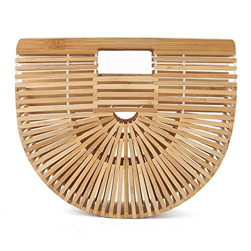 Bamboo Handbag BagWomen BeachWooden Fashion Handmade Colors Summer 2 Basket Delaman Lady Wooden dxfdU
