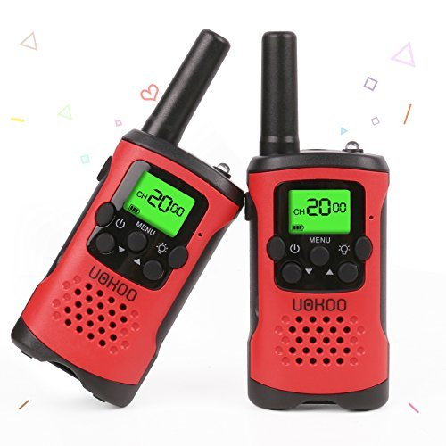 Kids Walkie Talkies, UOKOO Walkie Talkies for Kids 22 Channel FRS/GMRS Two Way Radio Up to 3KM UHF Handheld Walkie Talkies, Toys for 5-year Old Boys, Gifts for 7-year Old Boys and Girls (Red) (Toys For Girls Ages 3 And Up)