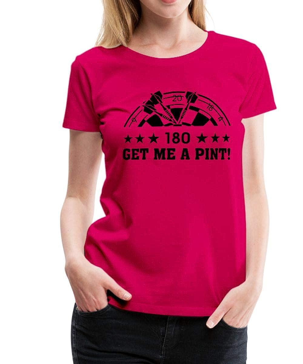 Dartscheibe Dartboard Frauen Premium T-Shirt von Get me a Pint 180 Darts