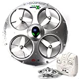 KiiToys UFO Drone RC Quadcopter CX-31 - Flying Saucer 3D Flip Roll Helicopter - 6 Axis Gyroscope - 4 Channels Radio Control - 2.4 ghz 4CH Headless Mode