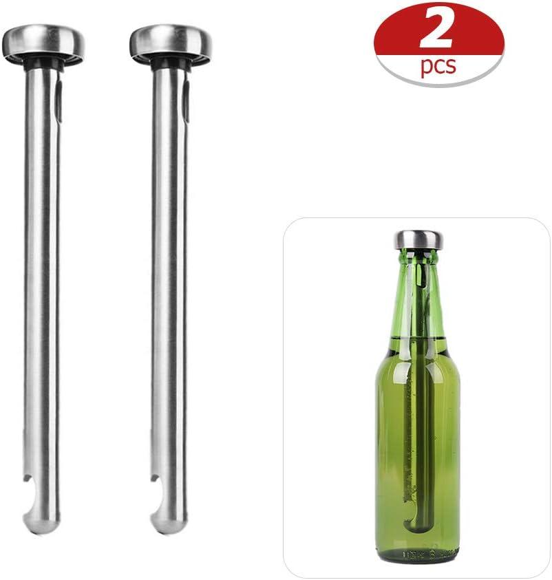 Sykasm - Enfriador de Cerveza portátil (2 Unidades, Acero Inoxidable)