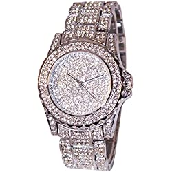 GBSELL Luxury Women Watches Rhinestone Ceramic Crystal Quartz Watches Lady Dress Watch