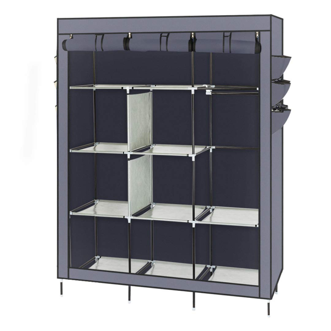 Dearing Multi-Function Wardrobe Non-Woven Fabric Storage Cabinet DIY Assembly Easy Install Reinforcement Wardrobe