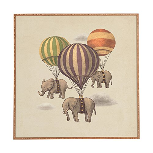 Deny Designs Terry Fan, Flight Of The Elephants, Framed Wall Art,