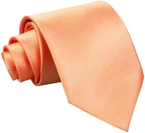 DQT Premium Satin Plain Solid Men's Wedding Classic Standard 9cm Extra Long Tie – Various Colours