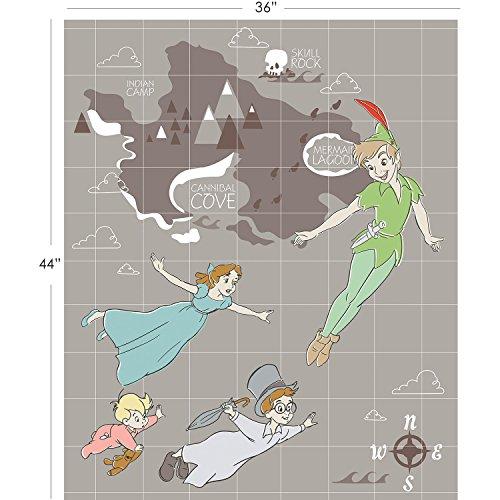 Disney Peter Pan Fabric Panel in Grey by the (Peter Pan Fabric)
