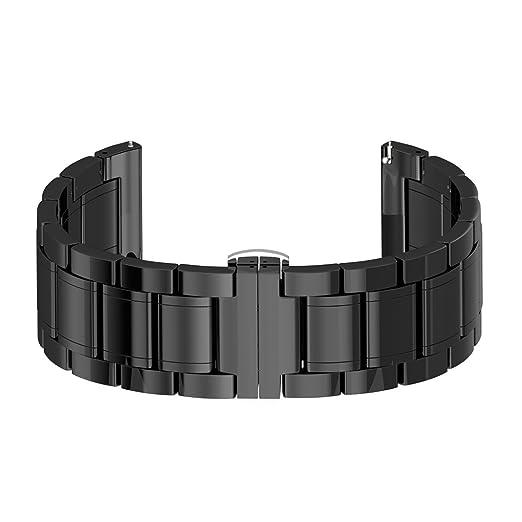 Gear S3 Watch Bracelet Noir,Samsung Gear s3 Frontier Band céramique,S3 Montre Replacement