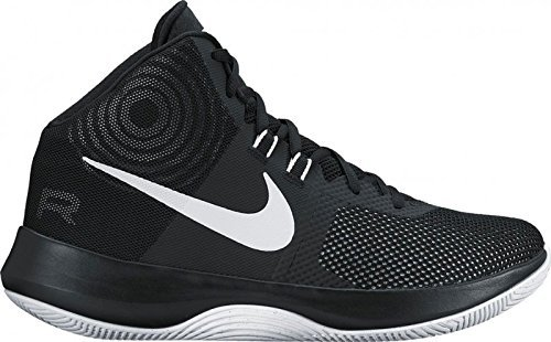 Nike Mens Air Precision Black/White/Cool Grey Basketball Shoe (11)