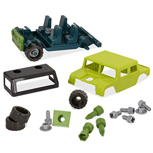 Battat Colorful Take-Apart Toy Truck for Kids Aged 3 an Take-Apart 4 x 4