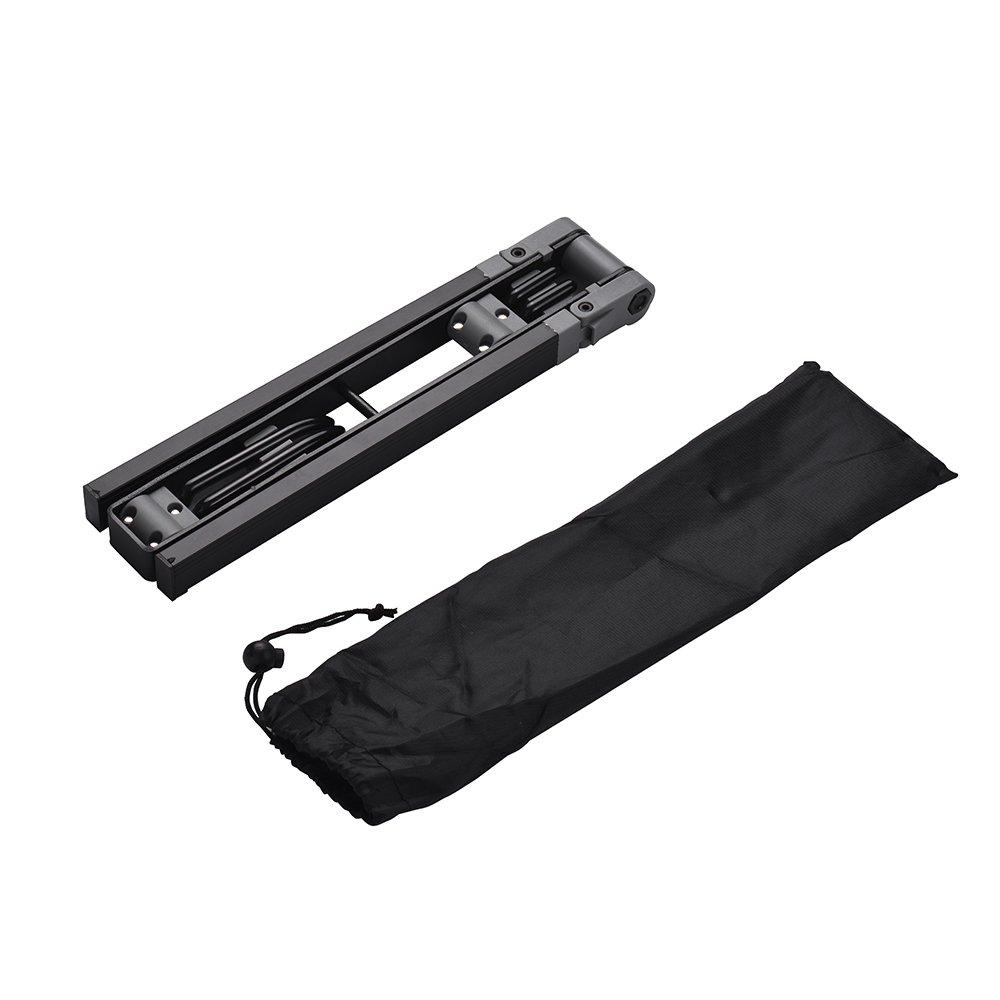 Festnight Supporto pieghevole portatile del supporto del supporto del supporto del metallo del sassofono dellalto con la borsa per il trasporto