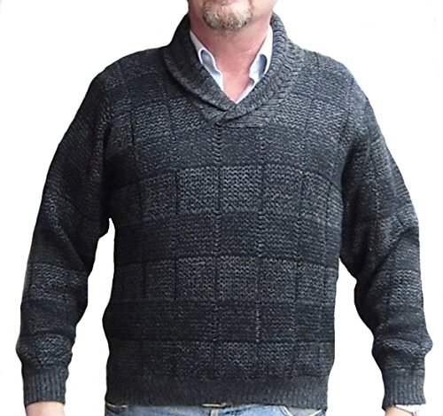 Alpakaandmore Men Sweater, Peruvian Alpaca Wool Pullover Green (X-Large)