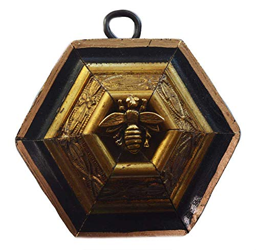 - Museum Bees - Wooden Frame w/Bee in Hive - 3