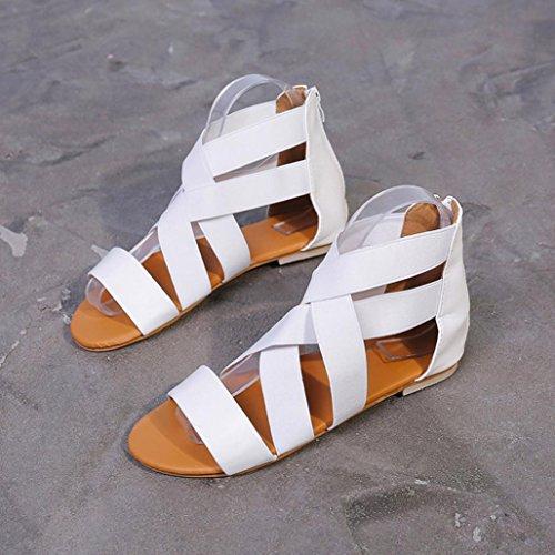 fff029d86d163 Vestir Zapatos De Correa Mujer Zapatillas Toe Para Blanco Blanda Open 2018  Playa Fiesta Bohemia Verano Grande Talla Paolian Plano Sandalias Suela Del  Romano ...