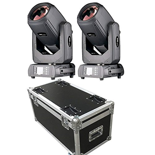 Ahlights 10R 260W Beam Moving Head Light, DMX512 Control, 14 Gobos for DJ KTV Disco Party Stage(2Pcs With Flight Case)
