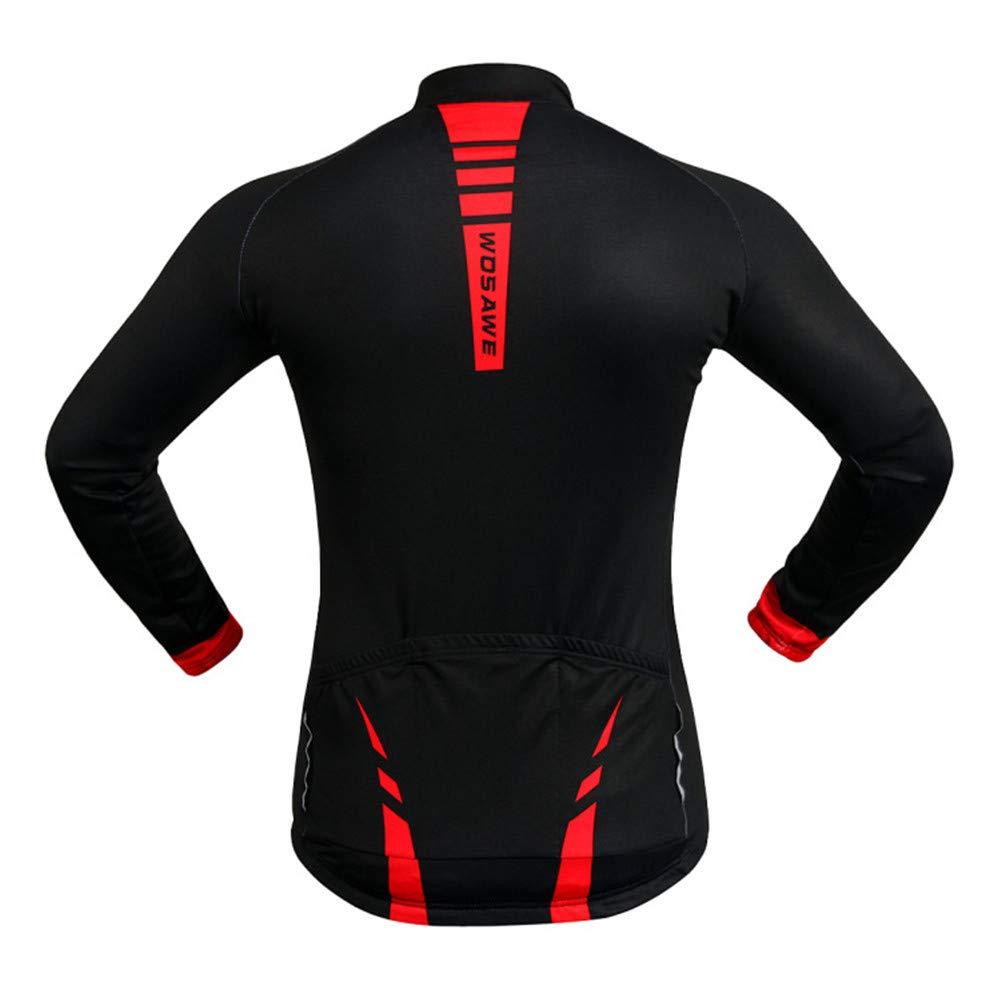 LINGS Homme Maillots de Cyclisme Respirante V/élo /à Manches Longues Chemises V/êtements,Maillot Cycliste Homme