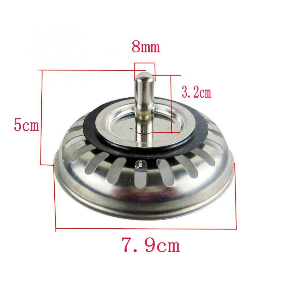 JZK/® 79 mm 79 mm Tappo filtro lavello scarico acciaio inox filtri per lavello della cucina lavandino fogna