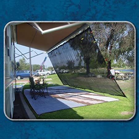 EZ Travel Collection Black RV Awning Shade Net Complete Kit 8 x 10 RV Awning Shade Kit