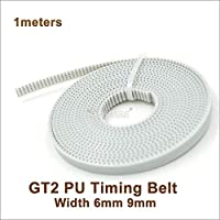 VNHOME 2GT PU Open Synchronous Belt Width=6/9/10mm GT2 Polyurethane with Steel Core Timing Belt Fit GT2 Pulley 3D Printer Parts from VNHOME