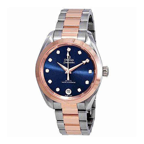 Omega Seamaster Aqua Terra Automatic Chronometer Diamond Blue Dial Ladies Watch 220.20.34.20.53.001