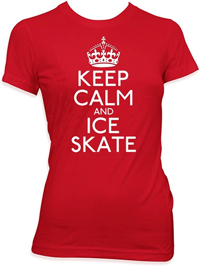 KEEP CALM AND ICE SKATE HOODIE ALL SIZES CHOICE OF COLOURS AND SIZES GREAT GIFT