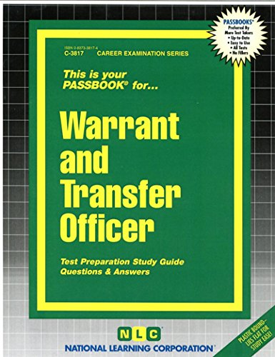 Warrant and Transfer Officer(Passbooks)