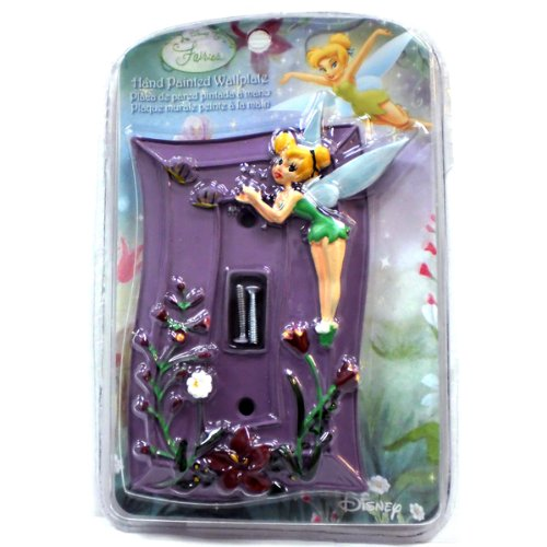 Disney Fairies Tinker Bell Hand Painted Wallplate - Kids Bedroom Playroom Decor Light Switch Plate ()