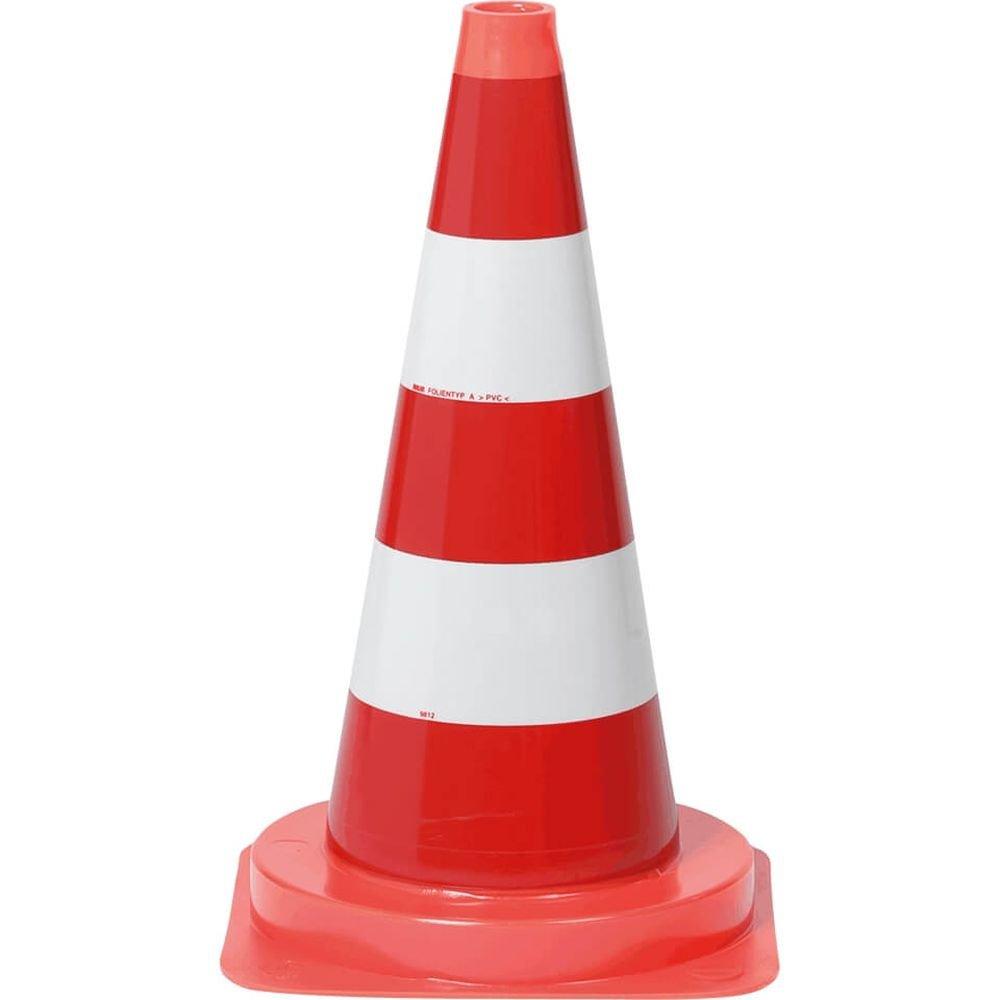 TMS PRO SHOP StVO Leitkegel RA 1, Bast, Farbe: rot/weiß Reflektierend, aus Kunststoff (50 cm, rot/weiß voll retroreflektierend)
