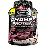 Whey Protein Powder | MuscleTech Phase8 Whey Protein | Sustained-Release 8-Hour Protein Shakes for Men & Women | 26g of Protein + 5.6g of BCAA | Muscle Builder | Cookies & Cream, 4.6 lbs (50 Servings)