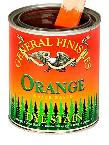 (General Finishes DPO Water Based Dye, 1 Pint, Orange)