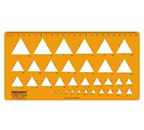 Triangle Shapes Drafting And Design Template Stencil Symbols Technical Drawing Scale by LINOGRAPH