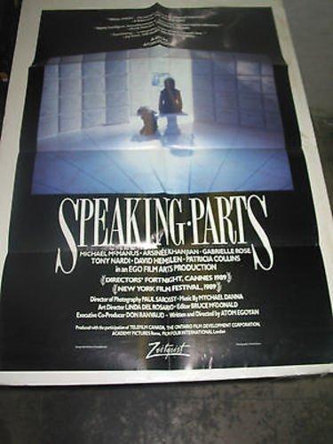 Speaking Part (SPEAKING PARTS /ORIG. U.S. ONE SHEET MOVIE POSTER (ATOM EGOYAN ))