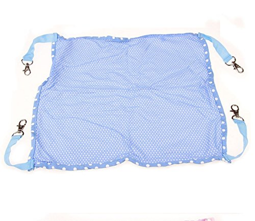 AOBRITON Pet Cat Hammocks Bed Use with Cage or Chair for Dog Puppy Kitty Ferrets Rabbits Pet Rats Chinchillas,Blue Small