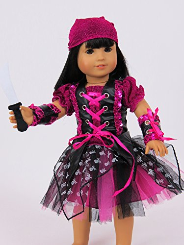 [Punk Rock Pirate Girl Costume for 18 Inch Dolls] (Rock Girl Costumes)