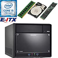 Shuttle SH110R4 Intel Core i5-7400 (Kaby Lake) XPC Cube System , 4GB DDR4, 480GB M.2 SSD, 2TB HDD, DVD RW, WiFi, Bluetooth, Pre-Assembled and Tested by E-ITX