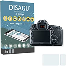 2 x Disagu FullFlex screen protector for Canon EOS 5D Mark IV foil (screen protector fits accurately on any curved display)