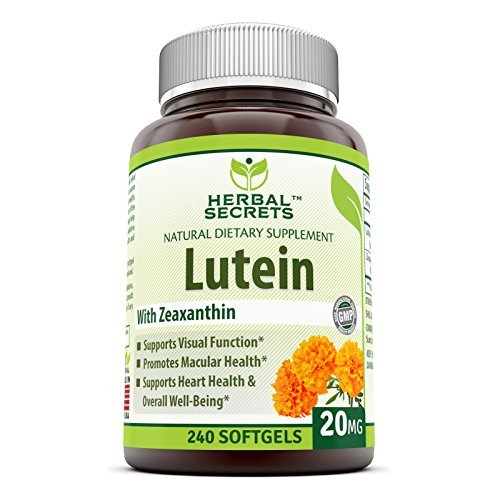 Herbal Secrets Lutein with Zeaxanthin 20 Mg 240 Softgels Discount