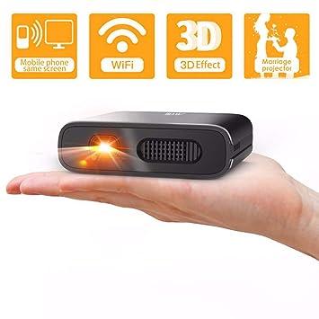 Mini Proyector Portátil WiFi 3D - Artlii Mana DLP Proyector Móvil Pequeño, Batería Recargable, para Smartphone / iPhone / Android