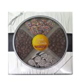 #9: Treats & Sweets Gourmet Quality Assorted Chocolate Platter-Contains 4