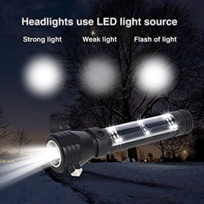 Brightest and Best LED Tactical Flashlights Set With Water Resistant : 2000 Bright Lumen Flashlight & mini 1000 Lumen Flashlight ,Solar Powered & USB Rechargeable,Perfect For Indoor & Outdoor, Camping