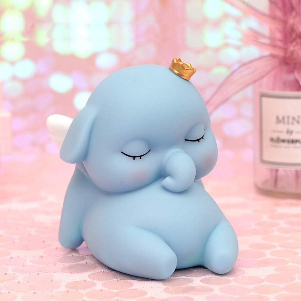HIL Blue Elephant Piggy Bank Hucha Decorativa Estilo N/órdico Decoraci/ón Del Hogar Simple Regalo De Cumplea/ños Regalo De Navidad Regalo De Estudiante Infantil,S