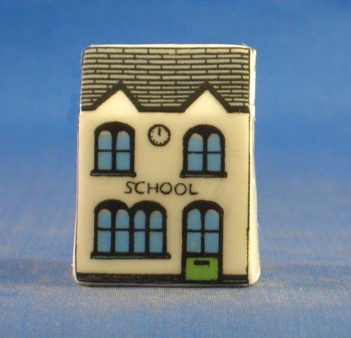 birchcroft Porzellan China Fingerhut /Schule Sammlerst/ück,-Miniatur-Haus Form/